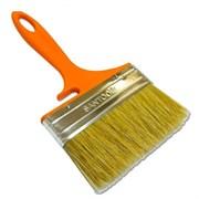 Кисть плоская нат. щетина 120мм оранжевая пласт. ручка с держателем для ведра SANTOOL Fox Lignt