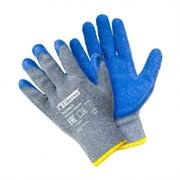 Перчатки хлопчатобумажные с полиэстером с текстурированным латекс. покрытием,Fiberon,(арт. PSV027P)