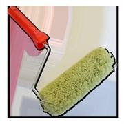 Валик полиакрил 180мм SANTOOL d 40 мм, d 6, зеленый ворс 18 мм, пласт. красная ручка
