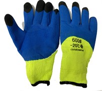 Перчатки двойной облив на вспененной основе (толстые) t-20