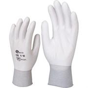 Перчатки нейлоновые с полиуретановым покрытием (белые)