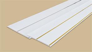 Панель потолочная  двухсекционная 250мм 3,0м  Идеал Глосси  001-2 белый с золотом (10шт/уп)