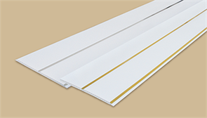 Панель потолочная  двухсекционная 250мм 3,0м  Идеал Глосси  001-2 белый с серебром (10шт/уп)