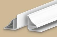 Плинтус потолочный для панелей 8мм 3.0м  Идеал Санни  белый глянцевый (25шт/уп)