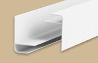 Профиль  F  для панелей 8мм 3,0м  Идеал Санни  белый (25шт/уп)