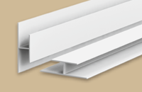 Профиль стыковочный для панелей 8мм 3.0м  Идеал Санни  белый   (25шт/уп)
