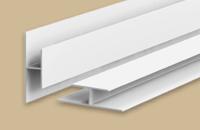 Профиль стыковочный для панелей 8мм 3.0м   Идеал Санни  белый глянцевый (25шт/уп)