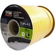 Уплотнитель для окон D 100mx9mmx7,5mm Черный Tytan Professional