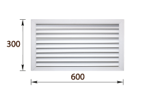 Решетка радиаторная ПВХ белая (30х60)