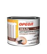 Эмаль для радиаторов отопления ОРЕОЛ гл. алкидная д/наруж. и внутр. работ 0,5л (8шт)