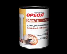 Эмаль для радиаторов отопления ОРЕОЛ гл. алкидная д/наруж. и внутр. работ 1л (14шт)