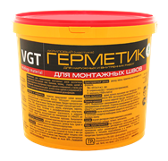 Герметик ВГТ акриловый для нар/внутр работ белый (для монтажа шва)15кг
