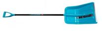 Снеговая лопата  ФОБОС  пластмассовая с планкой,с ал.черенком и V-ручкой