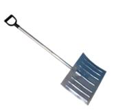 Снеговая лопата РУСИЧ-3 оцинкованная 428х375х0,8мм с ал/ч и V ручкой