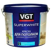 Краска ВГТ Супербелая для потолков ВД-АК-2180, 3кг (4шт)