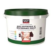 Краска ВГТ Белоснежная ВД-АК-1180 для нар/внутр работ моющаяся 1,5кг (6шт)