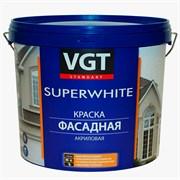 Краска ВГТ Супербелая фасадная, база А (автоколерование) ВД-АК-1180, 13кг