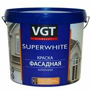 Краска ВГТ Супербелая фасадная, база С (автоколерование) ВД-АК-1180, 6кг