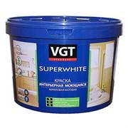 Краска ВГТ Супербелая интерьерная моющаяся, база А (автоколерование) ВД-АК-1180, 2,5кг (4шт)