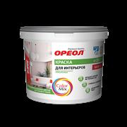 Краска ВД  ОРЕОЛ  для интерьеров полиакриловая для внутренних работ (база С) 9 л 11.75 кг