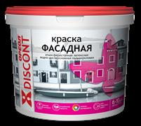 Краска ВД  ОРЕОЛ ДИСКОНТ  фасадная атмосферостойкая полиакриловая белая матовая 1.5 кг (6шт/уп)