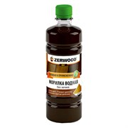Морилка водная ZERWOOD дуб 0,5л бутылка ПЭТ (уп6)