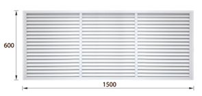 Решетка радиаторная ПВХ белая (60х150)