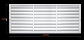 Решетка радиаторная ПВХ белая (60х180)