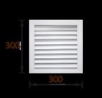 Решетка радиаторная ПВХ белая (30х30)