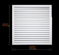 Решетка радиаторная ПВХ белая (60х60)