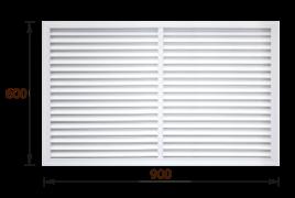 Решетка радиаторная ПВХ белая (60х90)