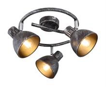 7031-733 Rivoli Настенно-потолочный светильник Eho WR3 Черный/серебро 3хE14 40W (6/72)