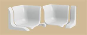 Набор комплектующих для универсального бордюра на ванну  Идеал  001-G белый гл (2шт/уп)