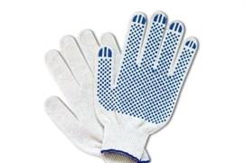 Перчатки х/б с ПВХ 5 ниток 7,5 класс