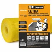 Сетка строительная универсальная 1.0м х 50м желтая ячейка 5х5 Fiberon 120 г/м.кв. (1/4)