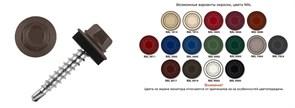Саморез кровельный RAL-8017 ZP 5,5х19 (100шт) шоколадно-коричневый