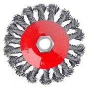 Щетка для болгарки и УШМ 100мм М14  тарелка  крученая проволока, ЕРМАК