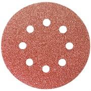 Круг абразивный под  липучку  перфорированный 125мм Р 80  Santool  (10шт)