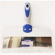 Шпатель 200мм нерж. сталь с2-х компонентной полир. усиленной серо-синей ручкой ТРЕЙСИ Мастер