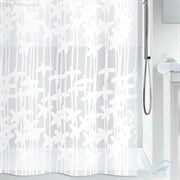 VETTA Шторка для ванной ПЕВА 180х180 белые цветы