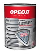 Эмаль с молотковым эффектом «ОРЕОЛ» алкидно-стирольная «ТИТАН» терракотовая 0.4 кг  (8шт/уп)