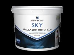 Краска ВД  NEWTONE SKY  для потолков ультрабелая 2,5л 4 кг
