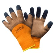 Перчатки оранжево-коричневые