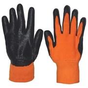 Перчатки оранжево-черные (салатово-черные)