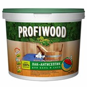 Лак PROFIWOOD антисептик для бань и саун полиакриловый с воском0,9кг(12шт)
