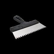 Шпатель зубчатый 250мм зуб 4х4 мм, нерж. сталь пластмассовая ручка ТРЕЙСИ Стандарт